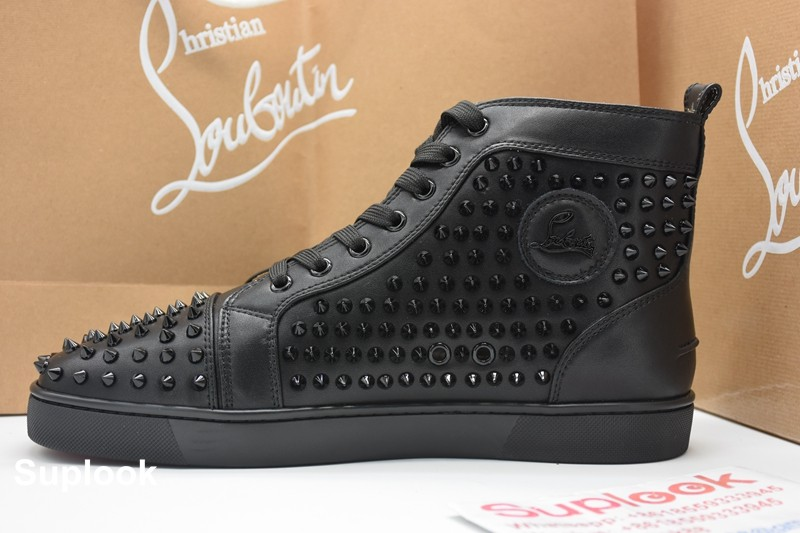 low priced f8497 057e0 Christian Louboutin Sneakers High Top Black - Chris-tian Lou ...