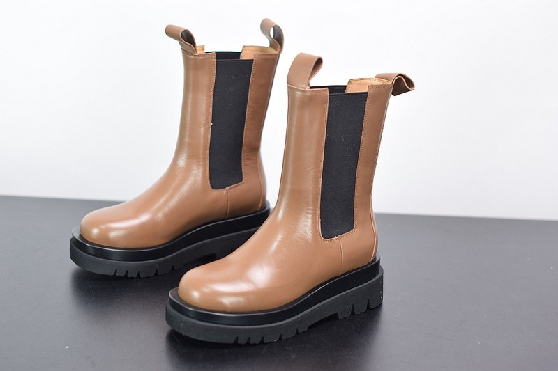 B-V Storm leather high boots (coffee)
