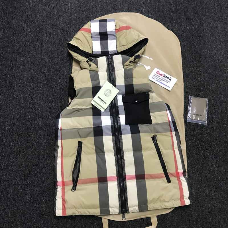BURBERR-Y recycled nylon ReDown® Down vest
