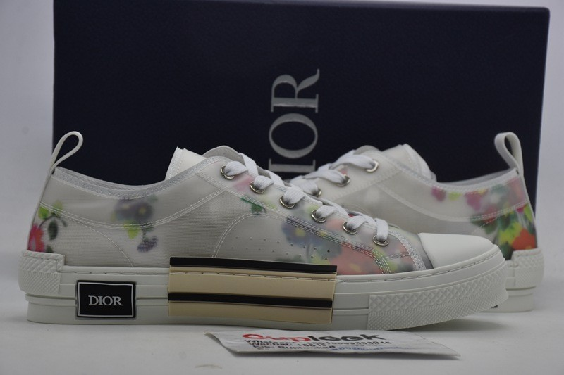 Dio-r B23 Low Top Flowers Oblique