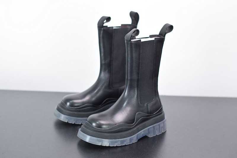 B-V Chelsea Tire Leather high Boot