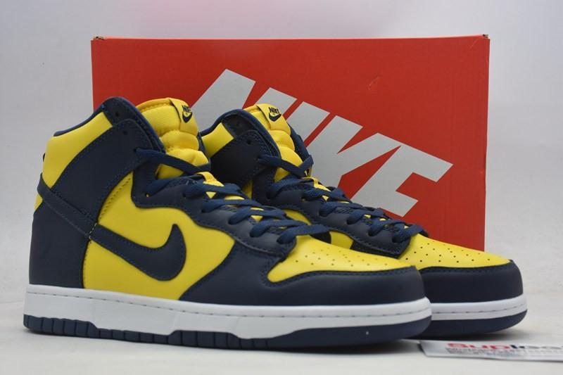 Nike dunk high SP Michigan Corn Midnight Navy CZ8149 700