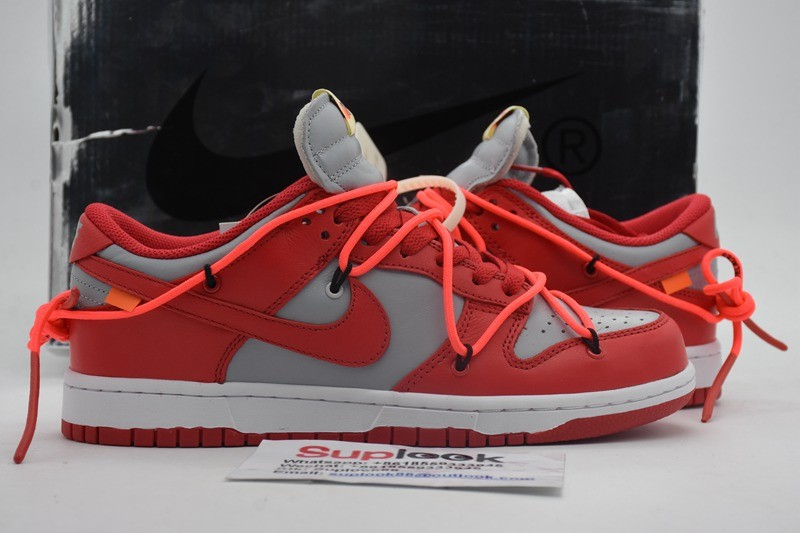 Nike Dunk Low O-f-f-White University Red
