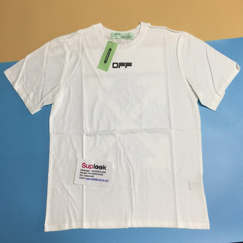 O-F-F-WHITE Oversized Fit Airport Tape T-Shirt White/Multicolor