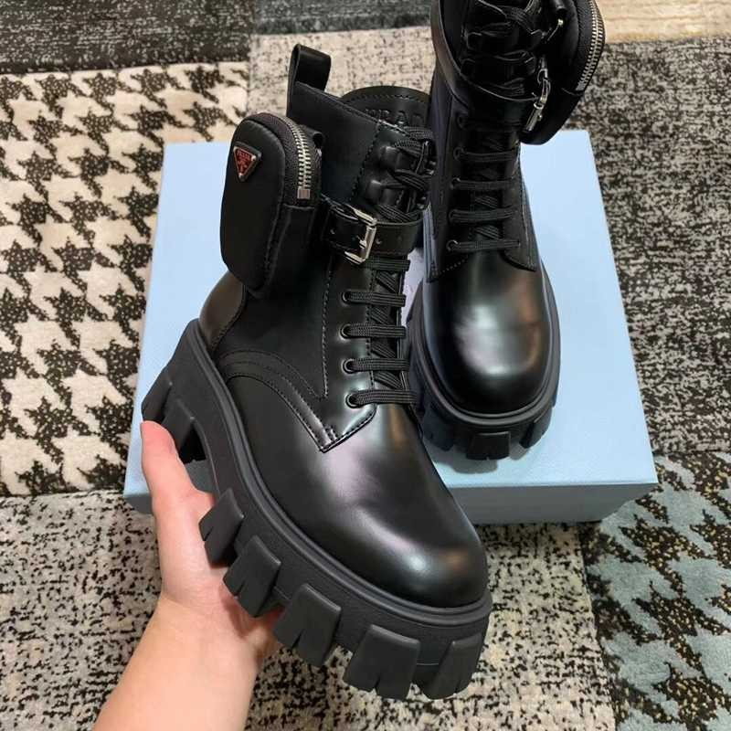 P-rada leather army boots