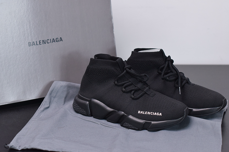 B-alenciag-a Speed Trainer Lace Up Black