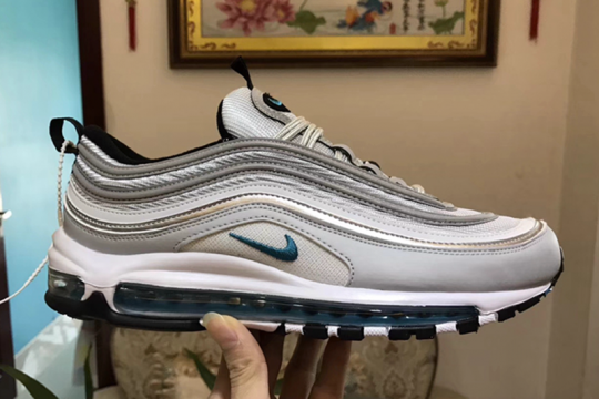 AIR MAX 97 SILVER BLUE Free Shipping Worldwide