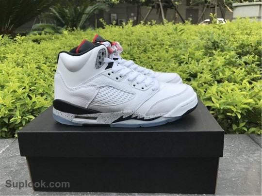 AUTHENTIC AIR JORDAN 5 WHITE CEMENT FREE SHIPPING WORLDWIDE