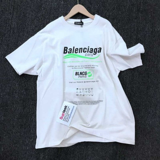 Bal-enci-aga Dry Cleaning Boxy T-Shirt IN White