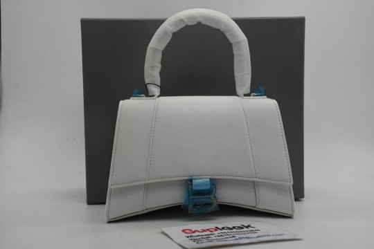 Balenciag-a Hourglass Tophandle White