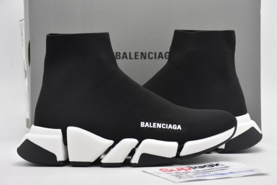 B-alenciaga Speed 2.0 Black White