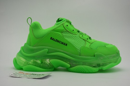 Balenciaga Triple S Clear Sole Green