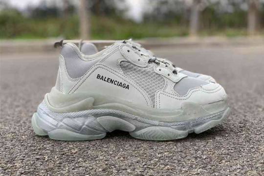 (WU$160)Balenciaga Triple S Clear Sole Grey
