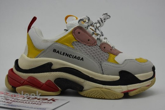 Balenciaga Triple S Yellow Pink FREE SHIPPING WORLDWIDE