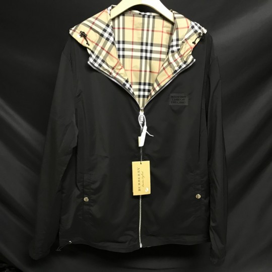Burberr-y double-sided Vintage plaid recycled polyester coat