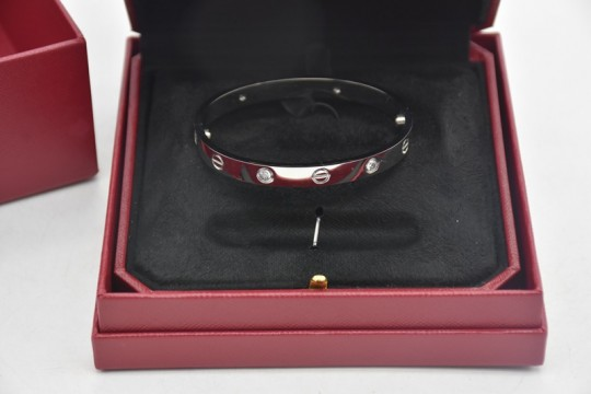 Cartie-r LOVE bracelet, set with 4 diamonds