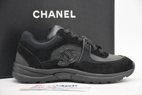 Chane-l Low Top Trainer CC Black