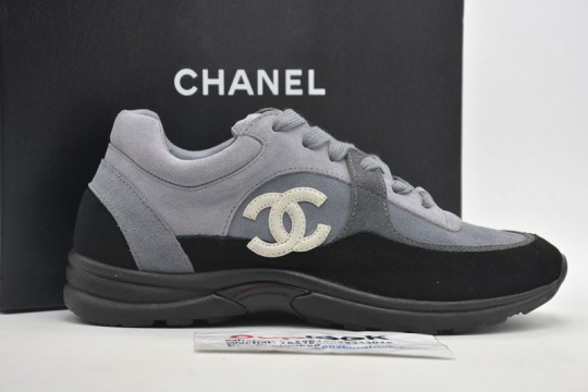 Chane-l Low Top Trainer CC Grey