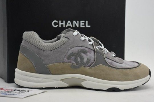 Chane-l Low Top Trainer CC Grey Sneaker