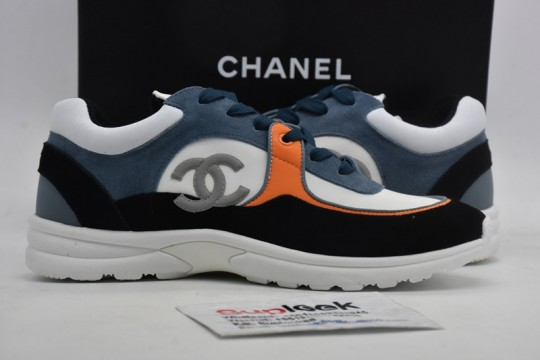 Chane-l Low Top Trainer CC White Navy