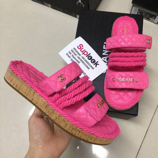 Ch-an-el Pink Slippers