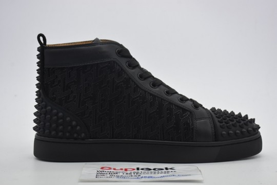C-hristian L-ouboutin black high-top sneakers