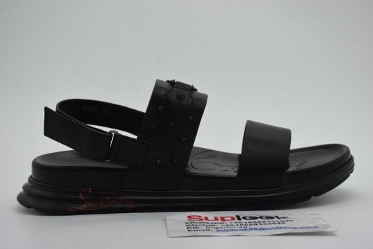 C-hristian L-ouboutin black sandals for men