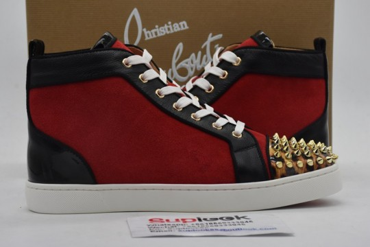 Christia-n Loubouti-n red high-top shoes