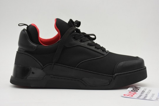 (WU$145 pls contact Whatsapp+8618559333945 to check size before order) C-L SNEAKER BLACK RED