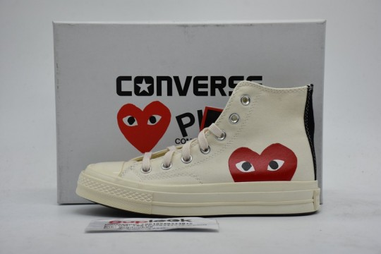 Convers-e Chuck Taylor All-Star 70s Hi Comme des Garcons PLAY White 150205C