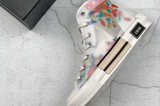(WU$140) Dior Flowers Technical Canvas B23 Sneaker