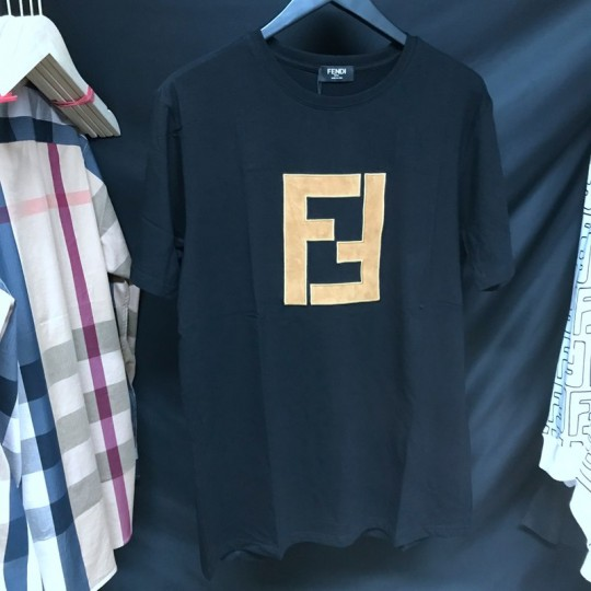 Fend-i black cotton T-shirt