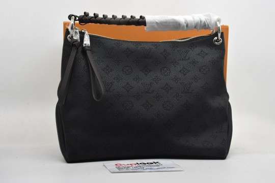 L-ouis V-uitton black tote bag