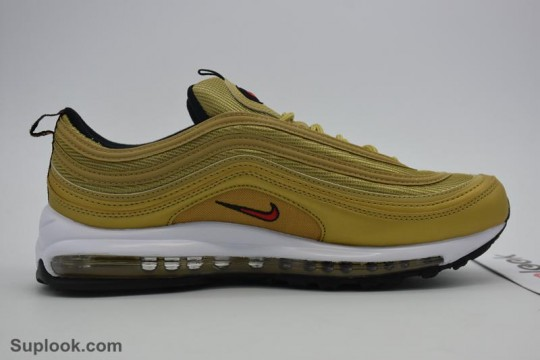 Nike Air Max 97 OG QS Gold FREE SHIPPING WORLDWIDE