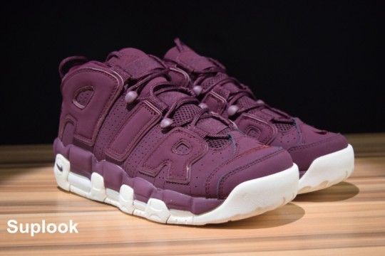 "NIKE AIR MORE UPTEMPO ""BORDEAUX"" FREE SHIPPING WORLDWIDE"