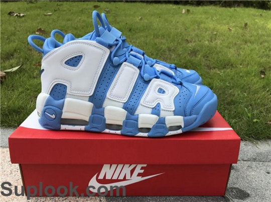 Nike Air More Uptempo University Blue FREE SHIPPING WORLDWIDE