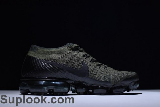 Nike Air VaporMax Flyknit Army Green FREE SHIPPING WORLDWIDE