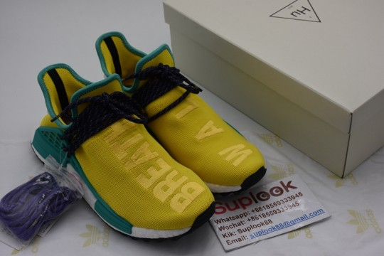 NMD PW Human Race Yellow Green FREE SHIPPING WORLDWIDE