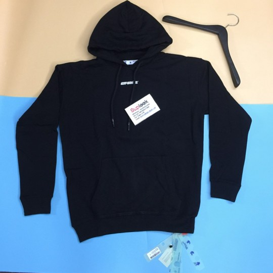 O-f-f-W-hite Oversize Fit Marker Arrows Hoodie Black/red