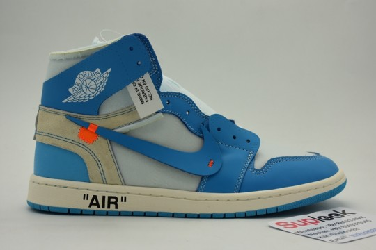HP Version Off White X Air Jordan 1 UNC