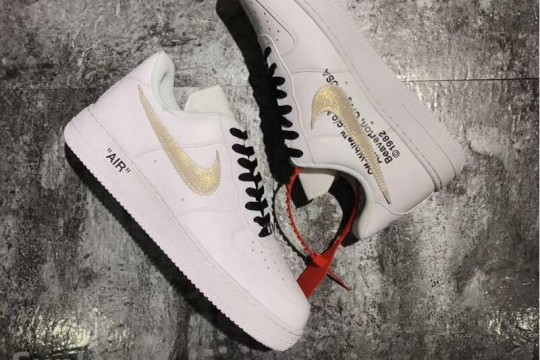 Off White x Nike Air Force 1 Low White Gold  FREE SHIPPING WORLDWIDE