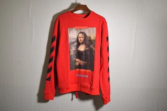 Off White Hoodie Mona Lisa RED (pls contact to check size) FREE SHIPPING WORLDWIDE