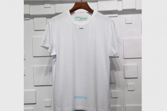(WU$100) Off White T Shirt  White (Pls contact Whatsapp +8618559333945 to check size)