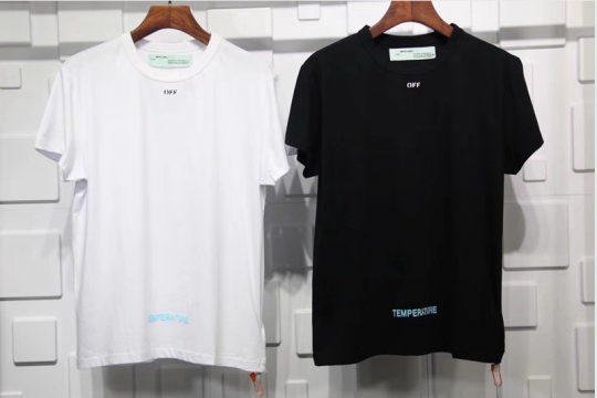 (WU$100) Off White T Shirt Black (Pls contact Whatsapp +8618559333945 to check size before order)