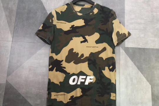 (WU$100, pls contact whatsapp to check size) Off White T shirt Camo
