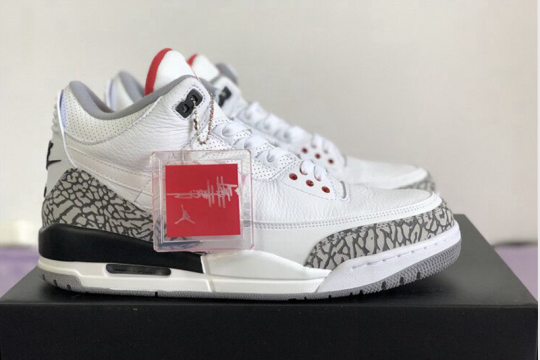 Nike Pair Air Jordan 3 JTH Tinker White Cement