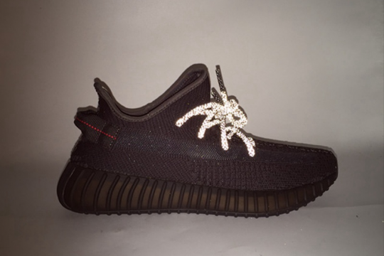 GOD VERSION Yeezy Boost 350  V2 Static Black Non-reflective