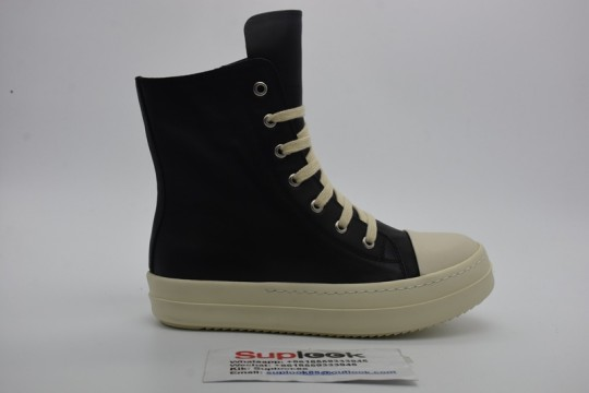Ric-k Owen-s black high-top shoes