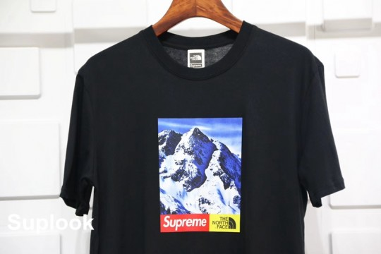(WU$100 pls contact Whatsapp+8618559333945 to check size before order)  Supreme The North Face Mountain Tee Black