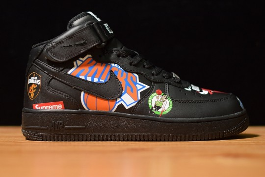 (WU$125) Supreme x NBA x Nike Air Force 1 Black AF1 Free Shipping Worldwide
